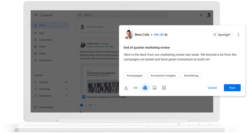 "Social tools, like Currents, help ""reconnect"" your remote workforce"